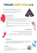Ausschreibung Betreuer Traum-Camps 4 Kids 2017